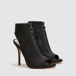 Zara fabric high heel sandals